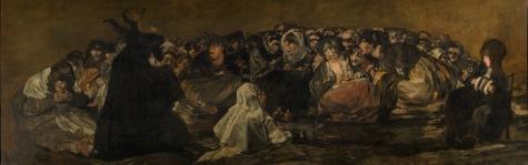 Goya. El Aquelarre, Sabat das bruxas. 1819-1823