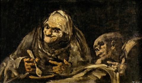 Goya. Dois velhos a comer sopa, 1819-1823