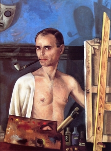 32 Felix Nussbaum. Self Portrait at the Easel. 1943.