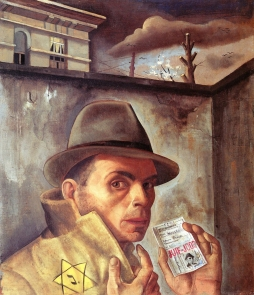 33 Felix Nussbaum. Self Portrait with Jewish Identity Card. 1943