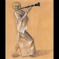 40 Felix Nussbaum-Skeleton with Clarinet 1944