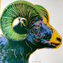 Andy Warhol Bighorn Ram, from Endangered Species, 1983.