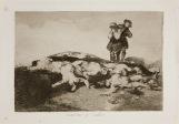 Goya. Desastres da guerra 18. Enterrar y callar