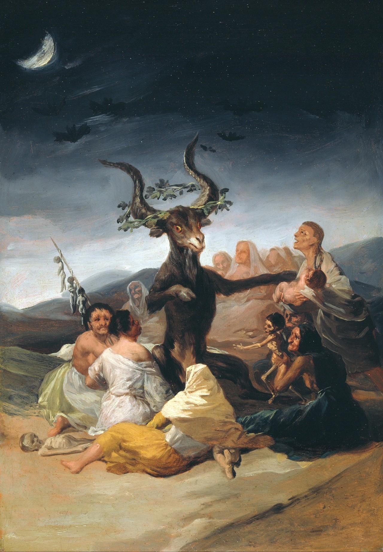 Francisco Goya; Witches' Sabbath, 1798