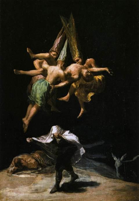 Goya. Bruxos no Ar. 1797-8