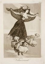 Goya. Capricho 61. Volaverunt. 1799