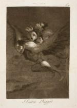 Goya. Capricho 64. Buen viage. 1799