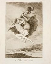 Goya. Capricho 66. Allá vá eso. 1799