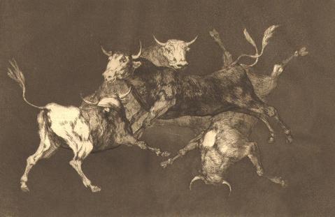 Goya. Chuva de Touros, circa 1815