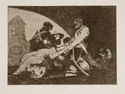 Goya. Los Desastres de la Guerra . 11. Ni por esas