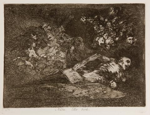 Goya. Los Desastres de la Guerra - No. 69 - Nada. Ello dirá
