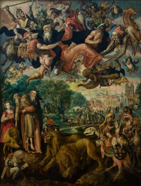 Marten de Vos. As tentações de Santo Antão. 1594