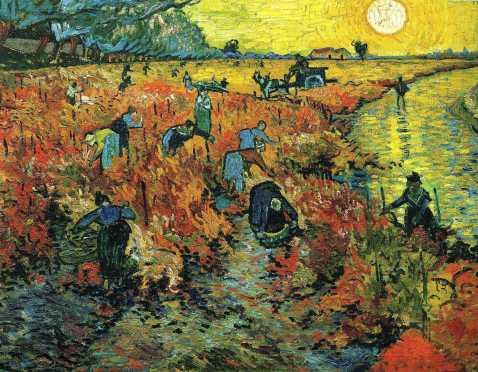 Vincent Van Gogh. A vinha vermelha. 1888.