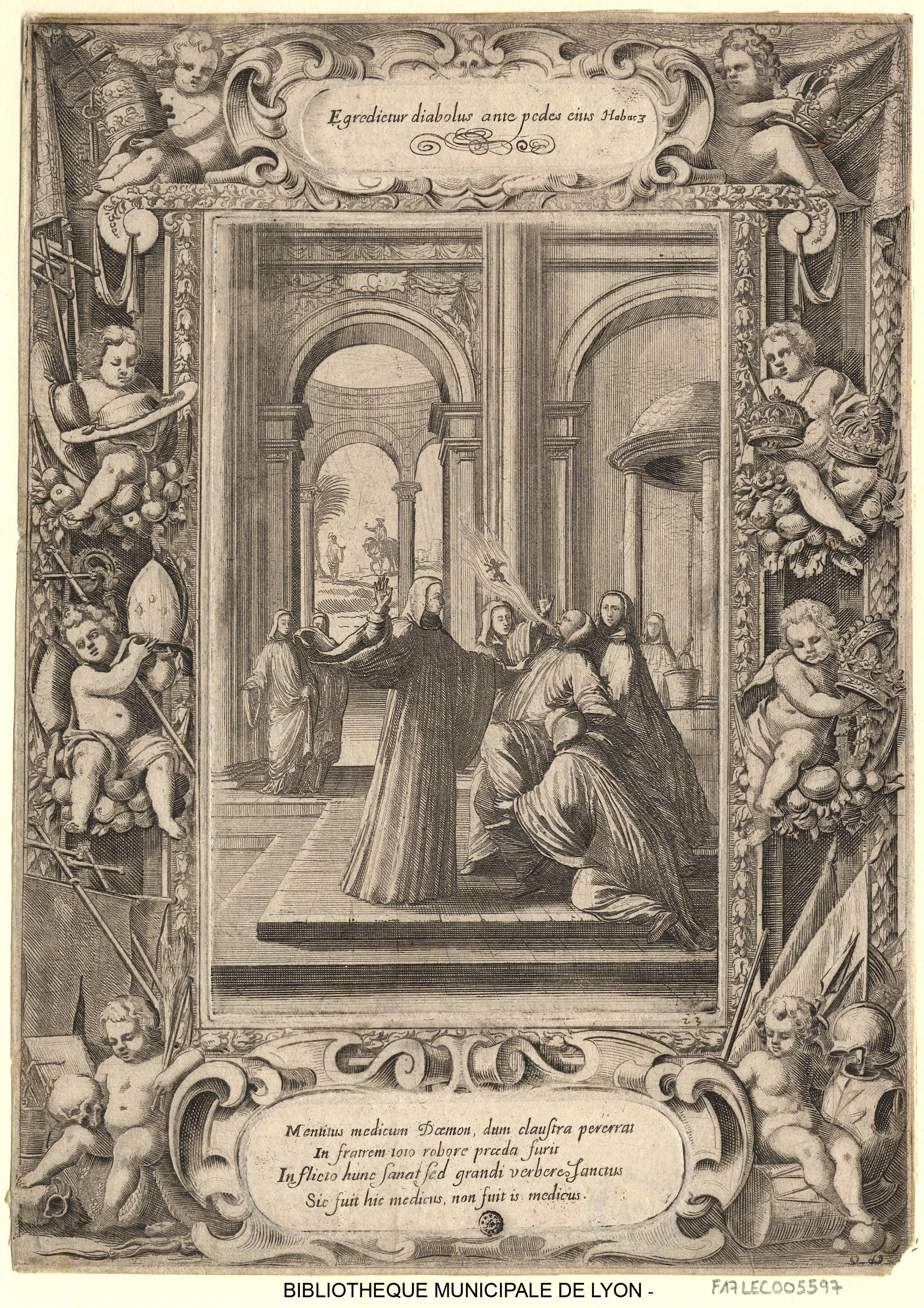 03. Sébastien Leclerc. São Bento cura com uma bofetada um religioso possuído pelo demónio, 1637-1714