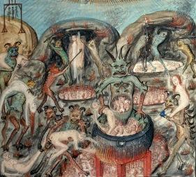 09. Caldeirões do inferno. Missal de Raoul du Fou, Normandia, ca. 1479-1511