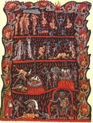 10. Herrad von Landsberg, O inferno. Hortus Deliciarum, 1180