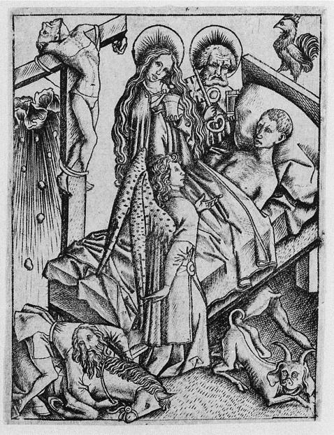 10- Meister E. S., Ars moriendi. Circa 1450.