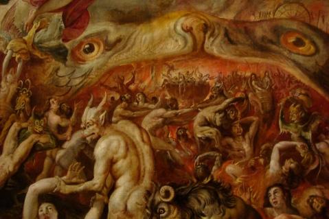 04. Marten de Vos. Juízo Final. Detalhe. 1570