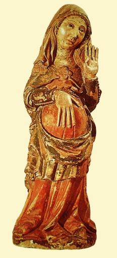 06. N. Senhora do Ó, ou da Expectação. Portugal, séc. XIV. Museu Nacional de Arte Antiga