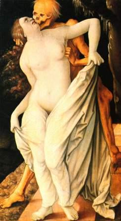 10. Hans Baldung Grien, A morte e a mulher, 1517.