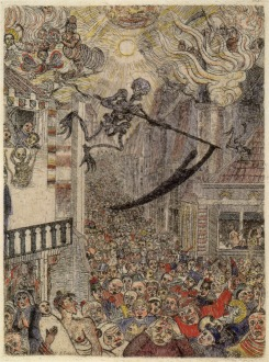 11. James Ensor. A morte perseguindo a multidão humana. 1896