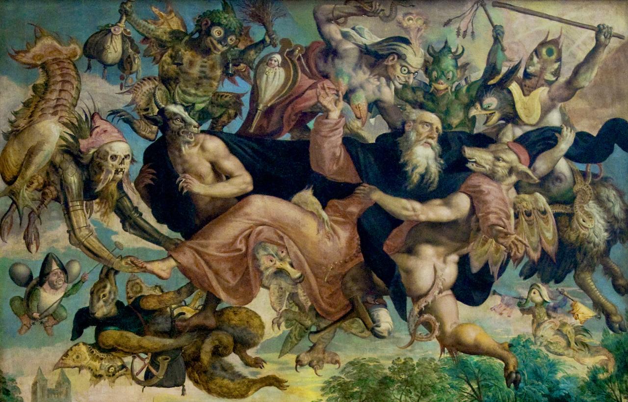 11. Marten de Vos. A tentação de Sto Antão. 1591. Detalhe