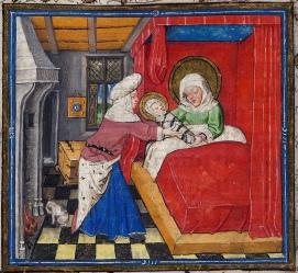 11. Miniatura do livro de horas de Catherine de Cleves. Utrecht, c. 1440