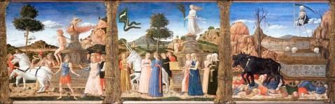 12. Discípulo de Andrea Mantegna. Triunfo do Amor, da Castidade e da Morte. 1460s