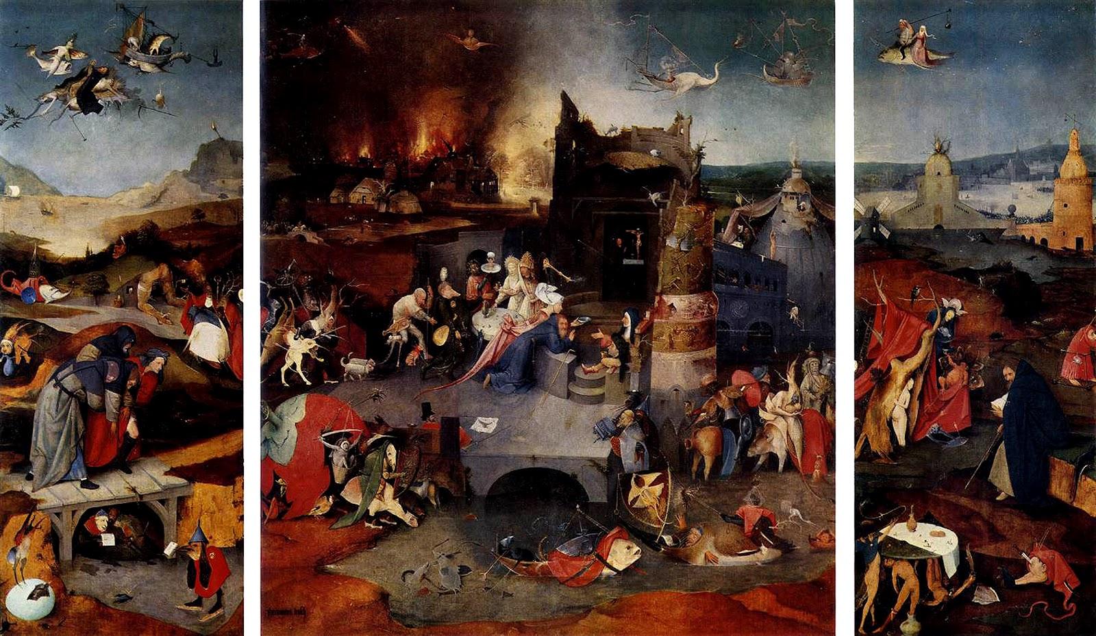 13. Hieronymus Bosch. A tentação de Santo Antão. 1502
