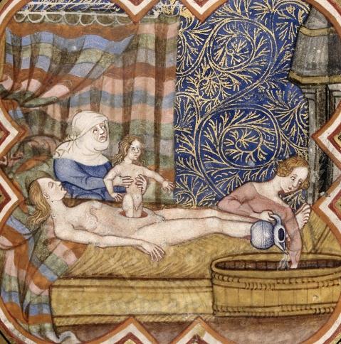 13. Nascimento de Júlio César,, Les anciennes hystoires rommaines, Paris, séc. XIV