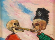 17. James Ensor. Esqueletos disputando um arenque. 1891