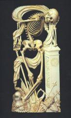 21. Escola Francesa. Alegoria da morte proveniente do Cemitério dos Inocentes, em Paris., Ca. 1520-1530