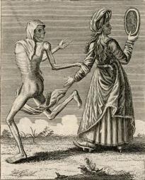 32. O nobre. Dansa macabra do Grand-Bâle. Matthæus Merian. 1621