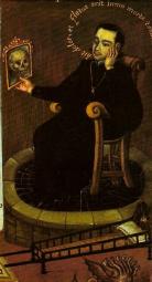 33.Anónimo. Tríptico da Morte, Museu Nacional del Virreinato, Tepotzotlán. México