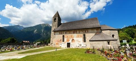 Igreja de São Virgílio. Pinzolo. Itália