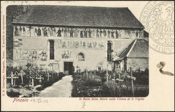 Figura 02. O Baile da Morte na Igreja de São Virgílio. Postal ilustrado. 1903