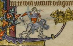 05. Filis e Aristóteles. Macclesfield Psalter, ca. 1330.
