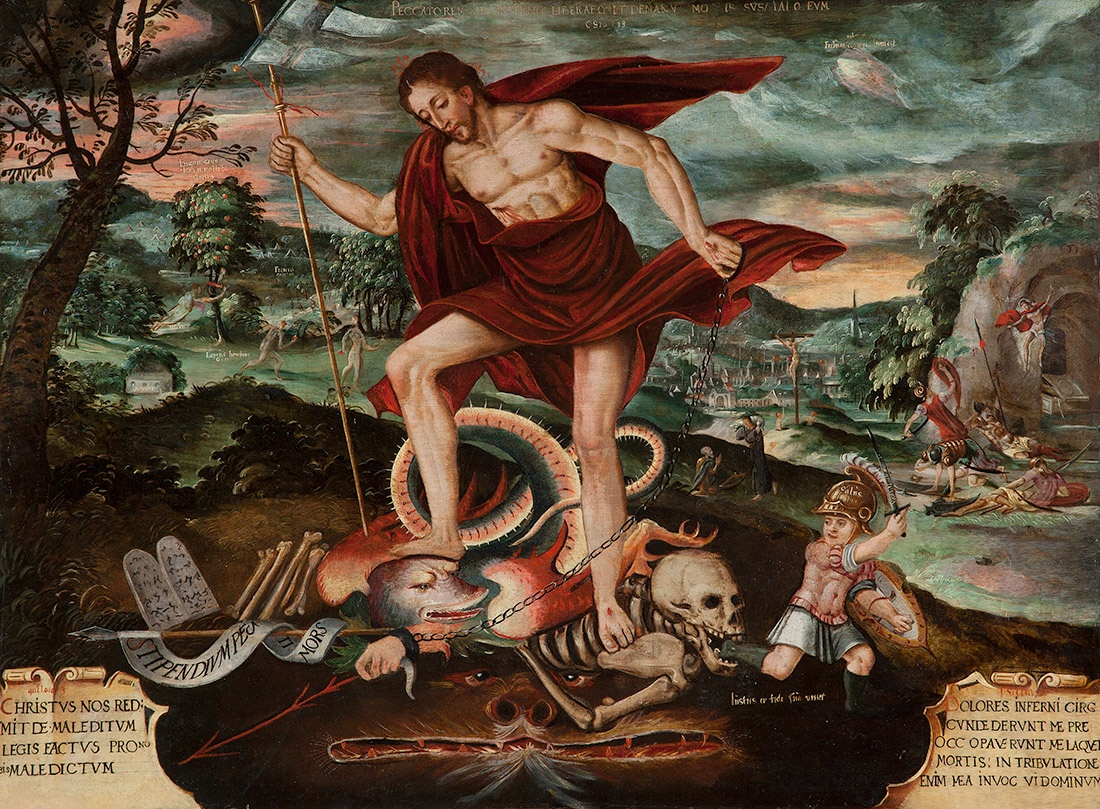 24. Cristo Descendo ao Inferno. Peru. Séc. XVIII.