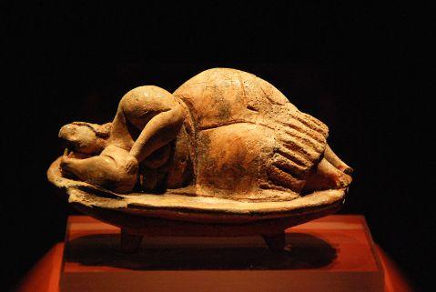 Mulher adormecida. Museu de Arqueologia. Valletta, Malta. 4000 et 2500 a.C.