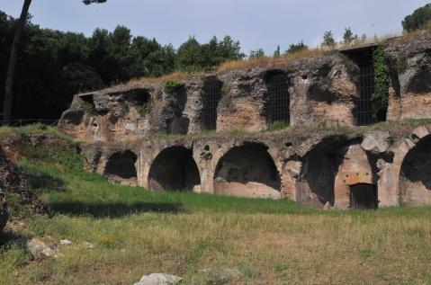 A cisterna das sete salas. Termas de Trajano