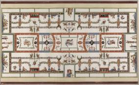 14. Benna & Smuglewicz. Domus Aurea. Decoração do tecto do Quarto 15. 1776.