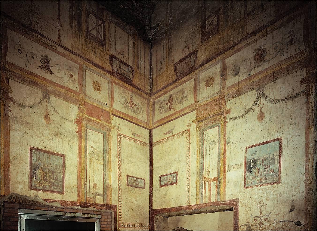 Domus Aurea. Frescos do quarto estilo na sala 78. 64-68 d.C.