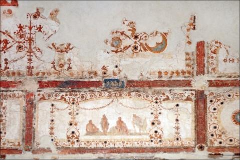 Domus Transitoria. Frescos.