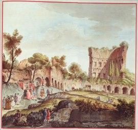 07. Gravura de Brenna, Smuglewicz & Carloni. Ruínas da Domus Aurea. 1776