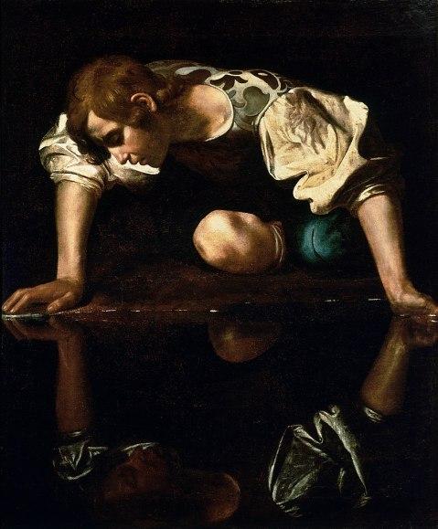 Caravaggio. Narciso. 1594-96.