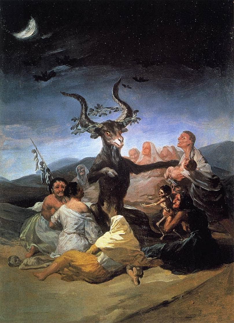 Francisco Goya. Witches Sabbath. 1789