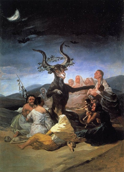 Francisco Goya. Witches Sabbath. 1789