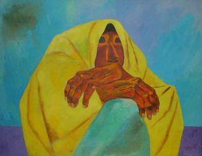 08. Eduardo Kingman Rebozo Amarillo. 1984