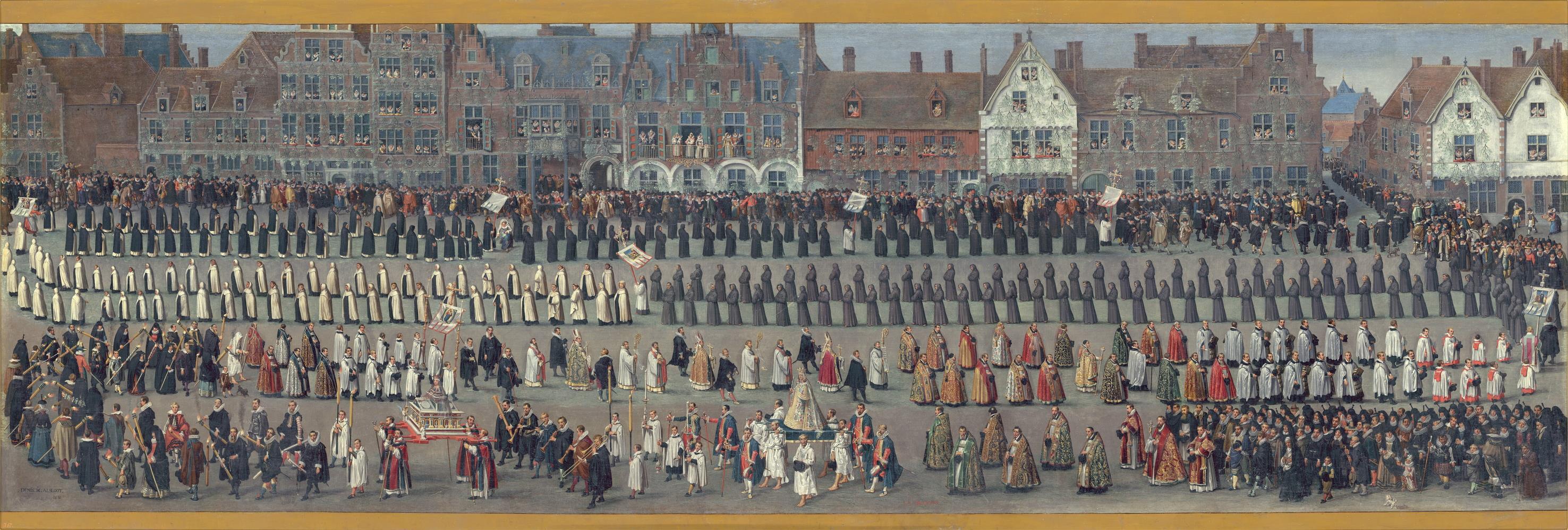 Denis van Alsloot. Ommeganck.  Bruxelas. 1615