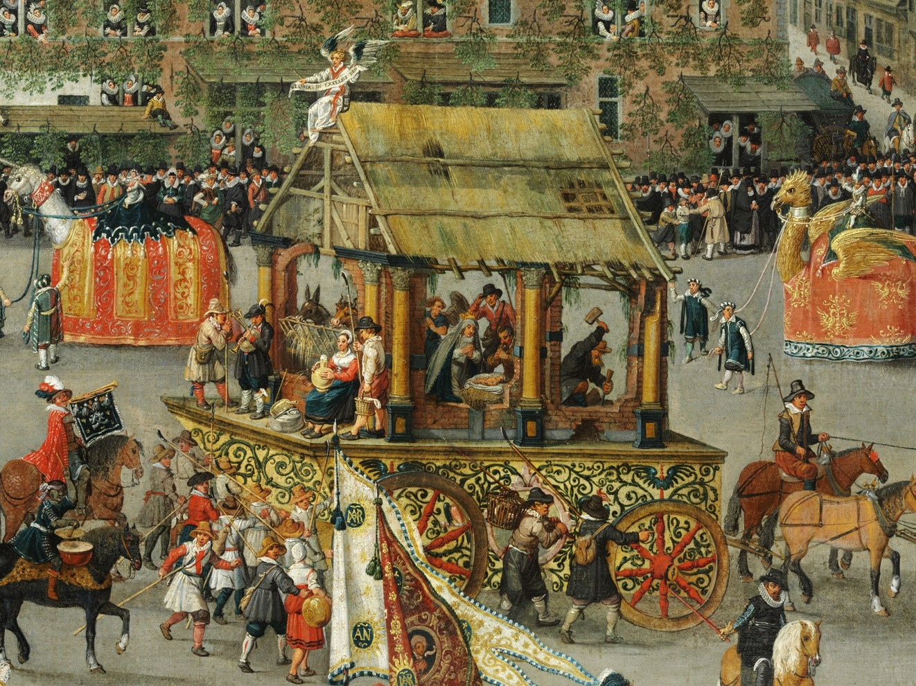 Denis van Alsloot. The Ommeganck in Brussels on 31 May 1615. The Triumph of Archduchess Isabella. Detalhe